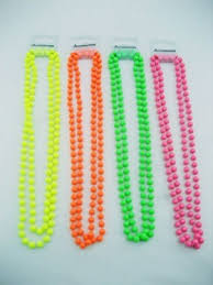 pink coloured beads necklace images 80s neon beads 1 x beaded necklace various colours jpg