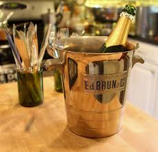 chrome plated champagne bucket for your tabletop