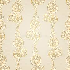 traditional floral pattern in victorian style stock photography