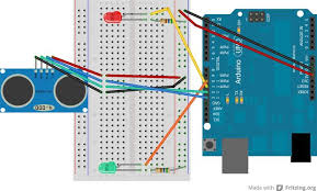 simple arduino and hc sr04 example 3 steps