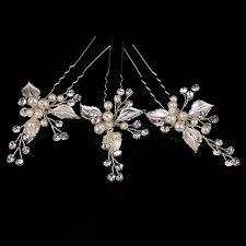 bridal hair pins aliexpress buy 3 pcs handmade pearl hair sticks