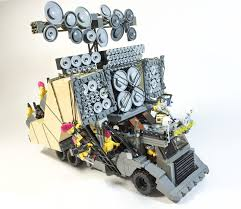 nissan lego check out the cars from mad max fury road recreated with lego blocks