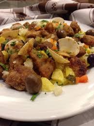recette de cuisine plat viande de porc à alentejana recette typique de l alentejo