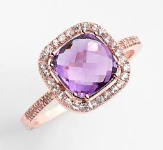 Purple Wedding Rings by Cushion Stone Sapphire Engagement Ring 770 Rose Gold Plus