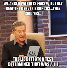 Patriots Broncos Meme - we asked patriots fans will they beat the denver broncos they