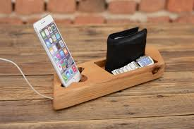 wooden phone holder iphone 7 stand docking station wooden