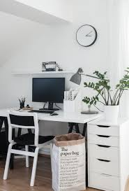 simple monochrome workspace scandinavian style inspiration