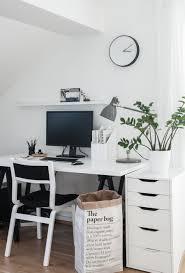 simple monochrome workspace scandinavian style inspiration