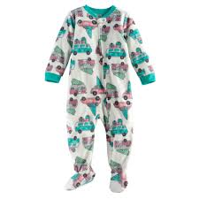 jammies for your families retro car microfleece footed pajamas