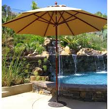 Galtech Patio Umbrellas by Galtech 9 Ft Double Pulley Sunbrella Patio Umbrella Walmart Com
