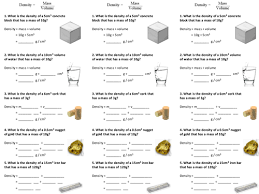 density of solids and liquids worksheet by alexpce teaching