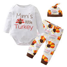 newborn baby boy clothing set thanksgiving suit sleeve