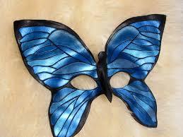blue morpho butterfly leather mask by bezidesigns on deviantart