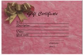 online gift certificates gift certificate templates printable gift certificates for any