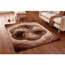 3d Area Rugs Casa Soft Shaggy Collection 3d Floral Spiral Design Area
