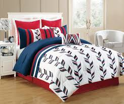 12 piece fusion red and blue bed in a bag set