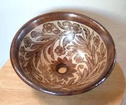 copper vessel sinks ebay copper bowl sink copper bucket vessel sink hammered copper handle