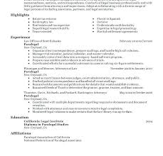 Resume Template For Secretary Resume Legal Resume Template Free Paralegal Sample Secretary