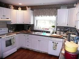 Rustic Birch Kitchen Cabinets Stunning L Shape Kitchen Features Brown Color Birch Kitchen