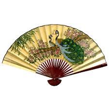 oriental fans wall decor oriental furniture gold leaf peacocks fan size 48 w x 30 h