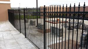 fence strong and cool steel fence design metal pool fence steel