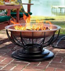 Copper Firepits Solid Hammered Copper Pit With Lid Modern Pits Copper
