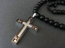 mens necklace with cross images Mens necklace with cross stainless steel cross necklace jpg