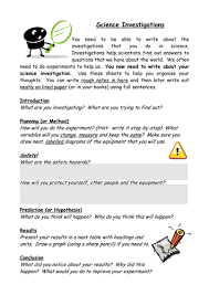 science report template ks2 science investigation writing frame by raj nandhra teaching