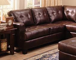 Brown Leather Sectional Sofa by Samuel Modern Leather Sectional Sofa 500911 Brown