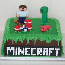 minecraft cake with steve