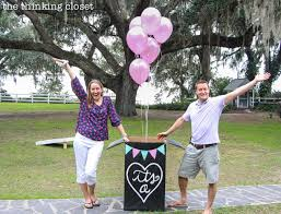 balloons in a box gender reveal this s gender reveal featured a green balloon the reason