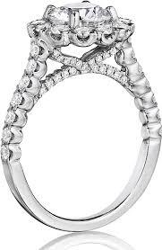bjs wedding rings henri daussi pave diamond engagement ring bjs