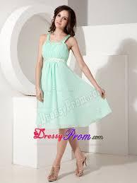 beading knee length apple green chiffon prom party dresses