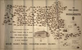 Lowell Massachusetts Map by Map Of Massachusetts Public Libraries 1915