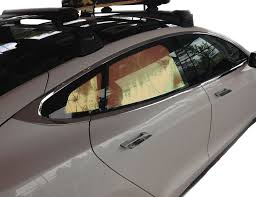 tesla inside roof tesla model s heatshield u2013 custom gold series sunshade