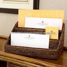 Wicker Desk Organizer Eco Friendly Rattan Desk Organizer Letter Holder Buy
