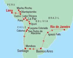 south america map bolivia wonderful south america 26 days argentina chile bolivia