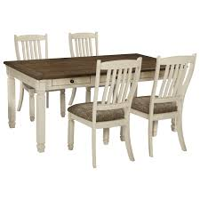 Ashley Kitchen Furniture Signature Design By Ashley Bolanburg Relaxed Vintage 5 Piece Table
