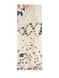 mir geometric butterfly print cashmere u0026 wool scarf lyst