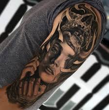 tattoo upper arm 3d portrait of a woman skull ideas tattoo designs