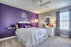 lavender painted walls new image of bedroom with purple accent wall and sand color walls