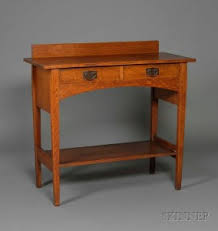 Gustav Stickley Desk Search All Lots Skinner Auctioneers