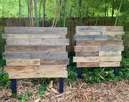 twins for twins raw pallet wood matching twin headboards pallet