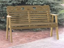 amish 4 u0027 cutout patio bench