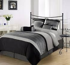 Grey Comforter Sets King Cal King Comforters Chezmoi Collection 7 Piece 3 Tone