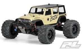 monster jeep jk proline jeep wrangler unlimited rubicon clear body hobby shop
