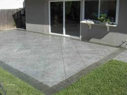 Backyard Floor Ideas Grey Floor Patio With Green Grass Yard And Grey