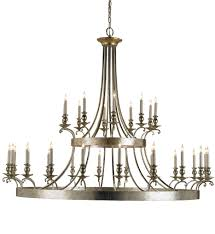 Silver Chandelier by Currey U0026 Company 9582 Lodestar 30 Light Chandelier With