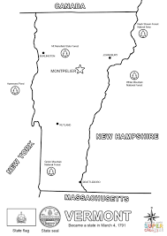 vermont state map coloring page free printable coloring pages