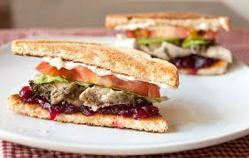 roast turkey sandwich with cranberry sauce the partial ingredients